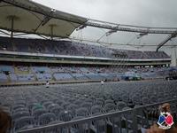 Stade vu depuis l'entrée du stade